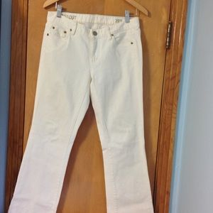 j crew boot cut white jeans